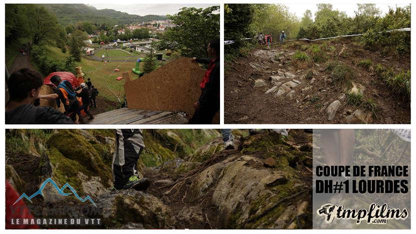 Passages techniques de la piste de DH de Lourdes