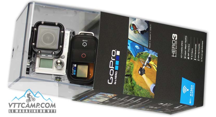 Conditionnement de la GoPro Hero3 Black Edition
