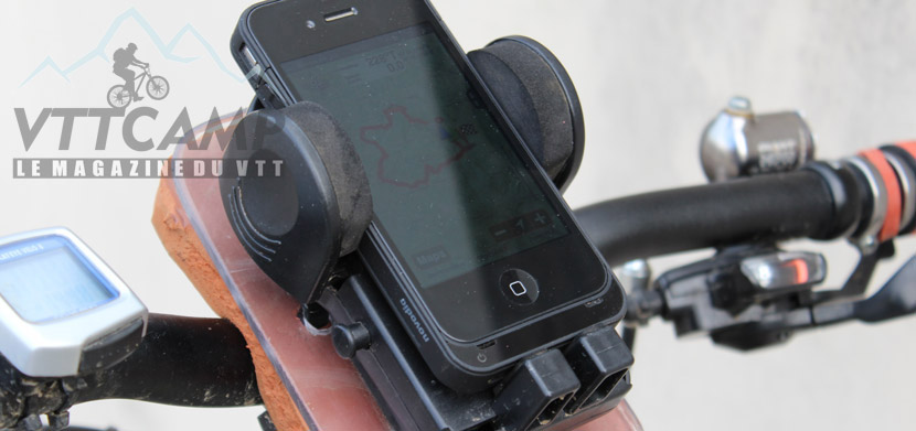 Support smartphone GPS pour VTT