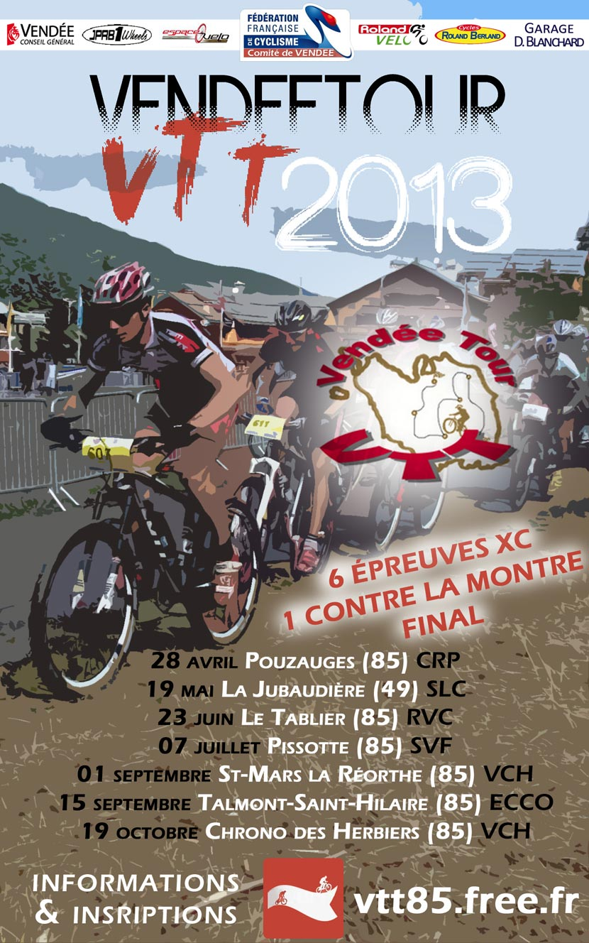 Affiche du Vendée Tour VTT 2013