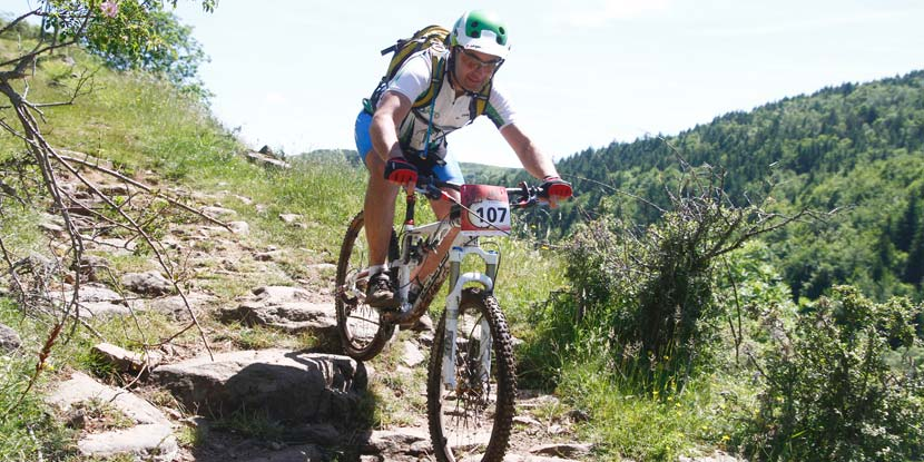 Alex de Bikeo en VTT