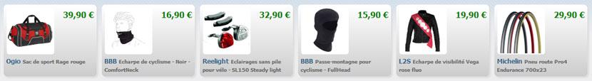 Sélections d'articles sur le site Bikeo.fr